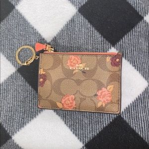 NWT Authentic Floral Coach Card Case